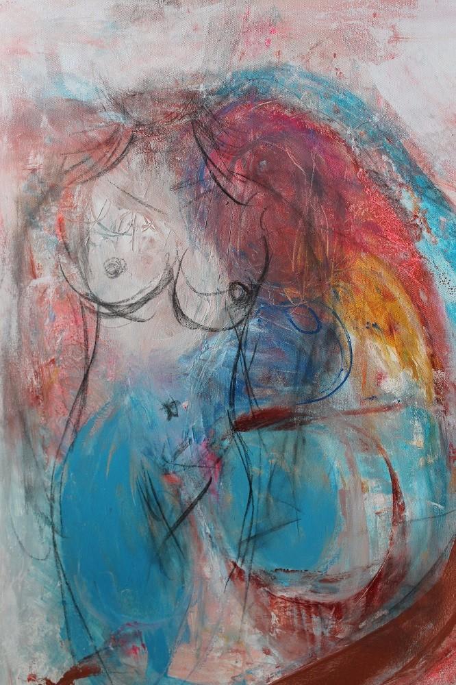 Vrouwelijk naakt! 120 x 100 cm